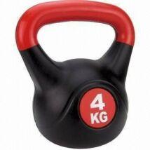 Füles súlyzó - Kettlebell, műanyag, 4 kg SPARTAN