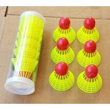 Speedminton (gyorstollas) labda készlet, 6 db-s S-SPORT